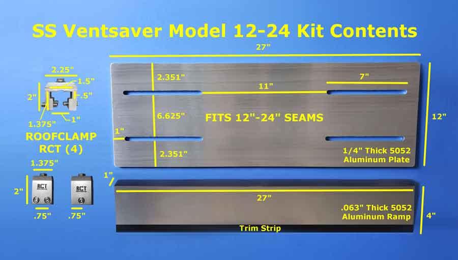 ss 12-24 VentSaver Kit Contents