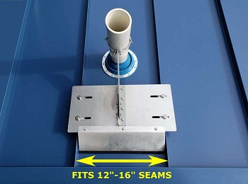 Standing Seam SS Ventsaver Kit Shown With P-383 VentSaver